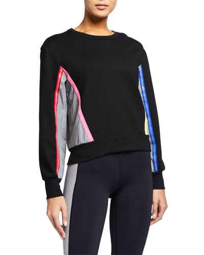 Colorblock Sweatshirt with Reflective Trim