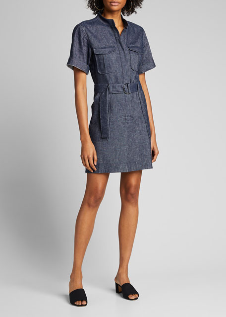 Romi Belted Shirt Dress