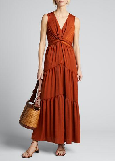 Courtnie Sleeveless Tiered Maxi Dress