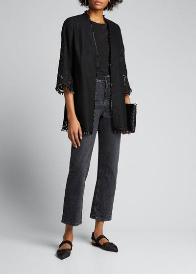 Lucille Bead-Trim Jacket