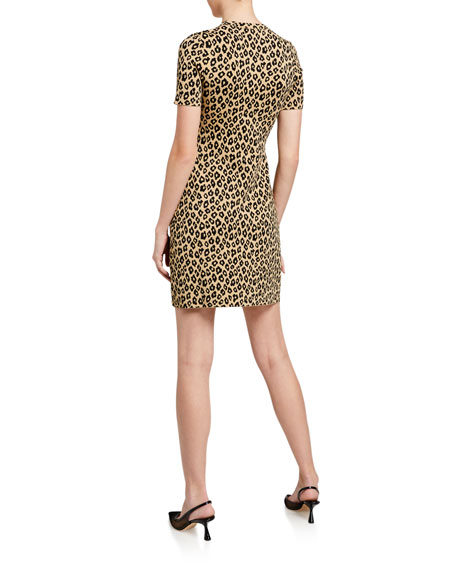 Leopard-Print Sheath Dress