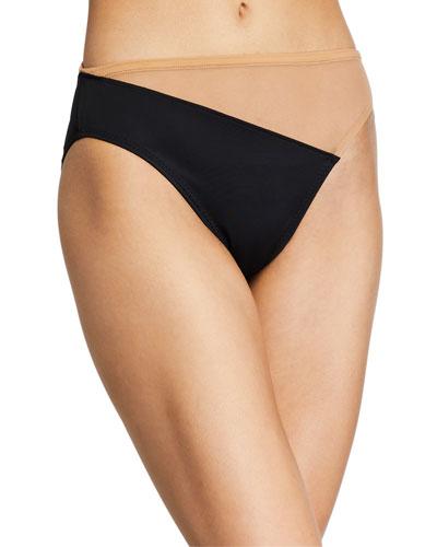 Snake Mesh High-Waist Bikini Bottom