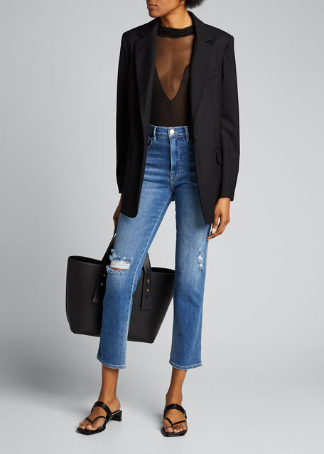Le Sylvie Slender Straight-Leg Denim Jeans