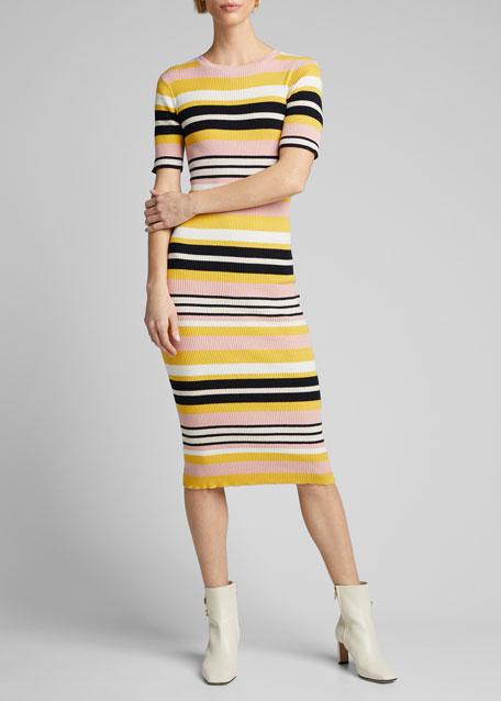 Baja Stripe Bodycon Dress