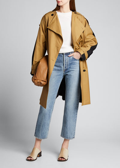 Colorblock Trench Coat