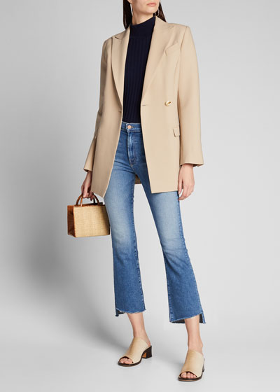 The Insider Crop Step Fray Jeans