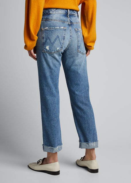 The Scrapper Cuff Ankle Fray Jeans