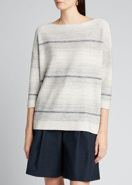 Bateau-Neck Ombre Sweater