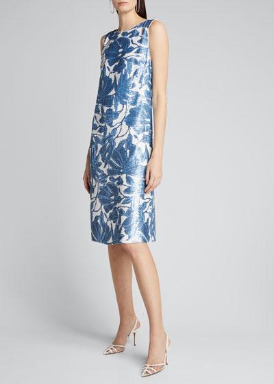 Noah Floral Sequined Sleeveless Dress