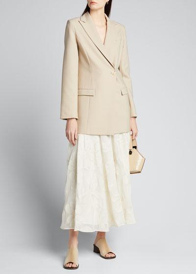 Ambria Fine Floral Jacquard Skirt