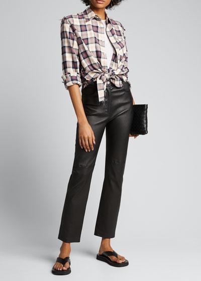 Plaid Flannel Shredded-Seam Shirt
