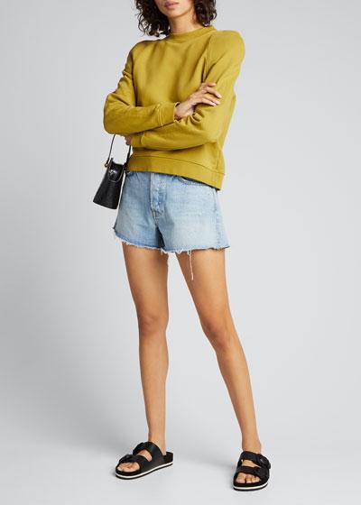 Helena Frayed Denim Shorts