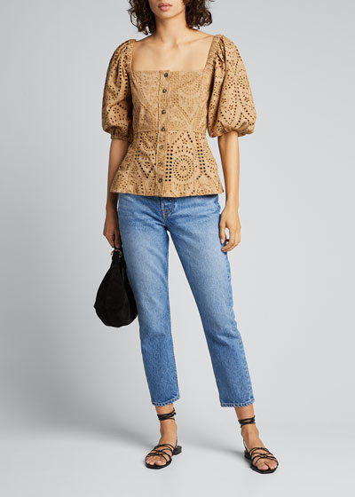 Sienna High-Rise Straight-Leg Ankle Jeans