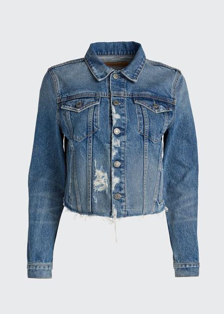 Cara Distressed Denim Jacket