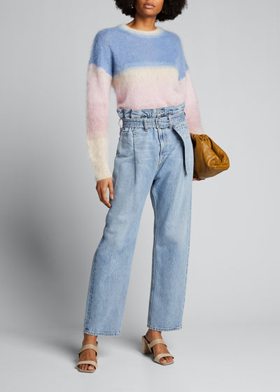 Reworked 90s Belted Jeans