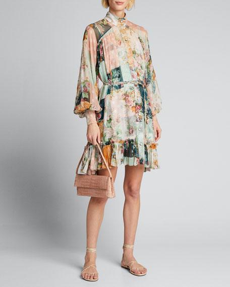 Wavelength Printed Smock Midi Dress