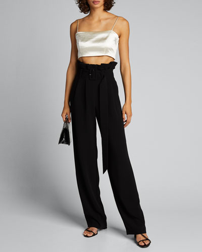 Kade Belted Paperbag Pants