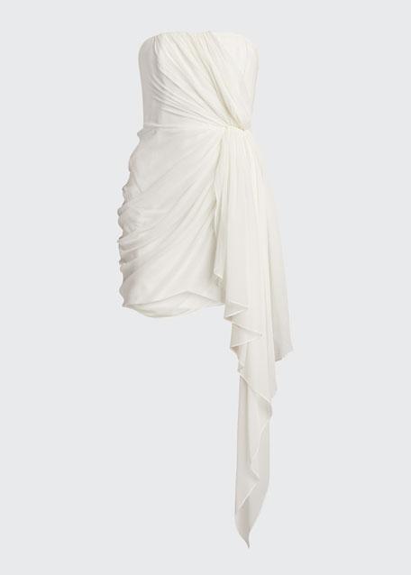 Yuki Draped Strapless Dress