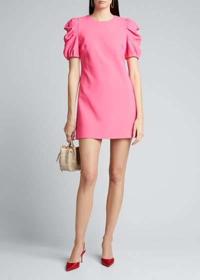 Hanita Short Puff-Sleeve Shift Dress