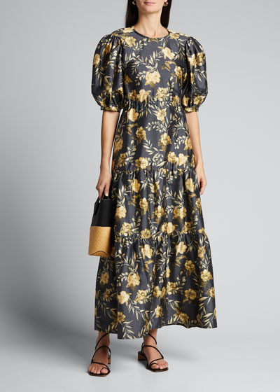 Carmen Open-Back Midi Dress