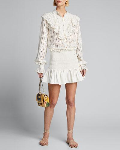 Arlo Smocked Mini Skirt