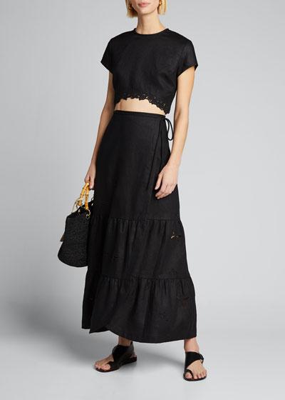 Alena Wrap Maxi Skirt