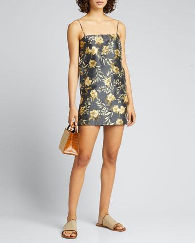 Carmen Floral Silk Mini Dress