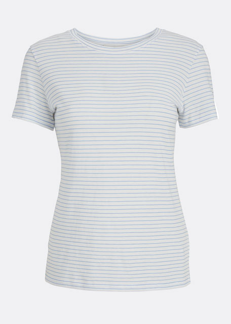 Pencil Stripe Essential Crewneck T-Shirt