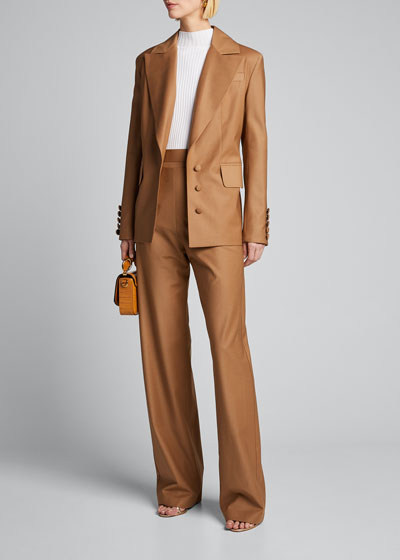 Side-Button Pants