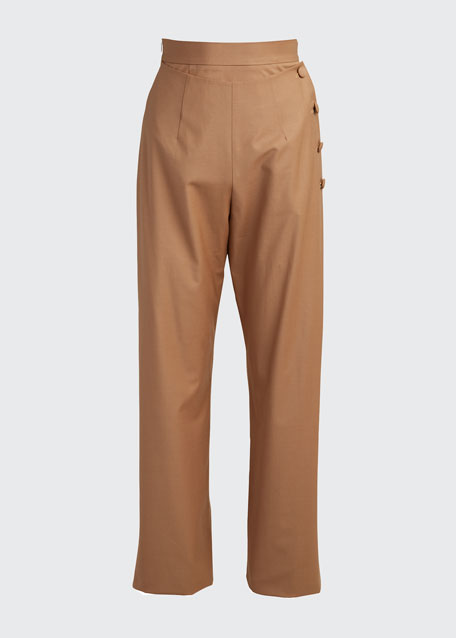 Side-Button Pants