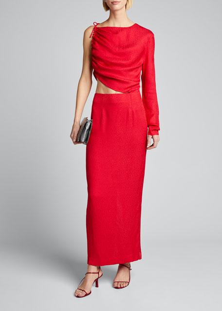 Leo One-Shoulder Cutout Dress