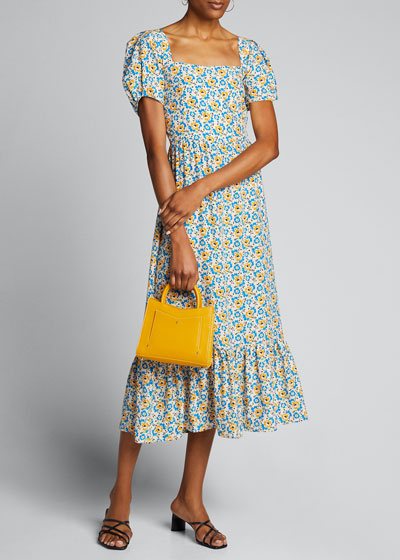Fromer Square-Neck Ruffle Gown