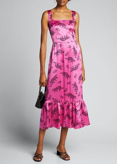 Olympia Sleeveless Gown with Ruffle Hem