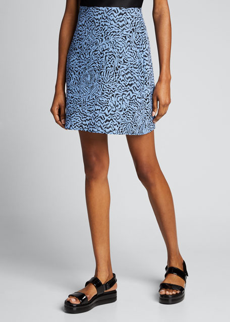 Wiona Printed Silk Mini Skirt