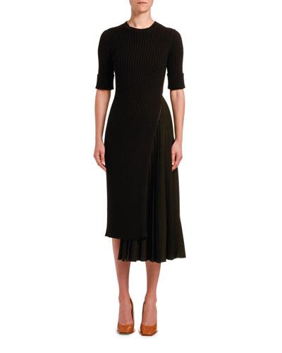 Asymmetrical Knit Cocktail Dress
