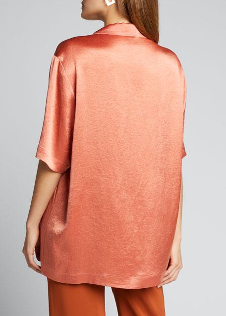 Ella Satin Pajama Blouse