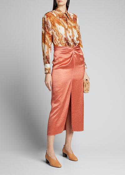 Samara Twisted Split-Front Skirt