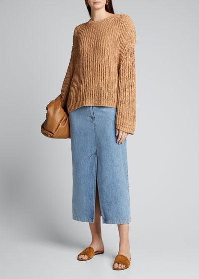 Saio Split-Back Crewneck Sweater
