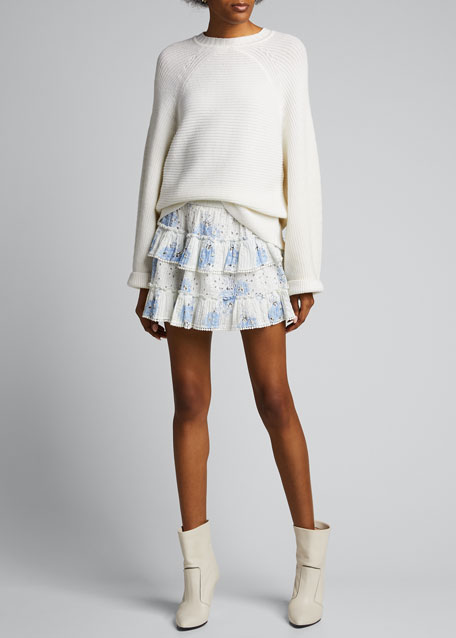 Image 1 of 1: Bliss Tiered Mini Skirt