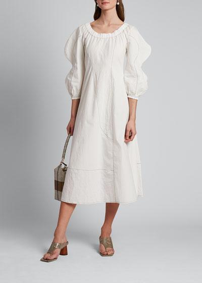 Aida Puff-Sleeve Dress