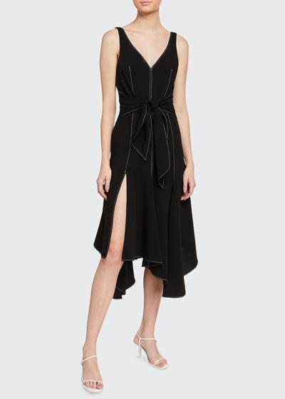 Stasia Tie-Front Sleeveless Dress