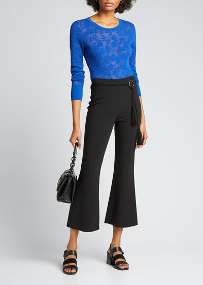 Avril Belted Flare Pants