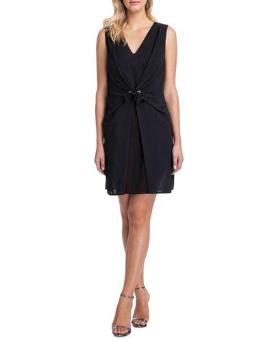 Vogue Tie-Front Short Dress