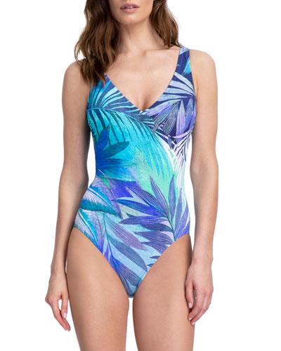 Desert Sky Surplice One-Piece Swimsuit