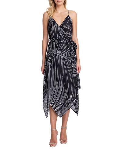Palla Printed Wrap Dress