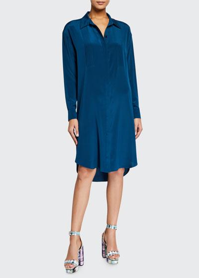 Aliana Silk Shirtdress