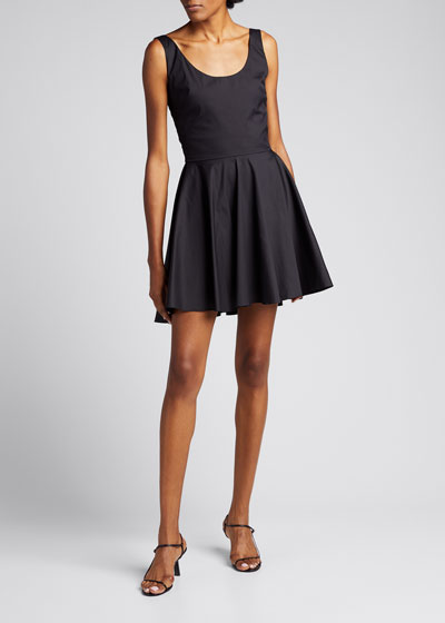 Kylie Sleeveless Fit-and-Flare Mini Dress