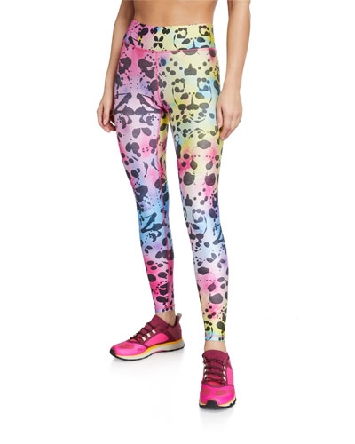 Photo-Print Tall Band Leggings