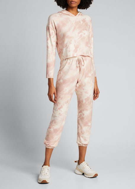 Image 1 of 1: Weekend Sweatpant Peach Tie Dye