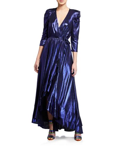 Flora Lame Cocktail Dress